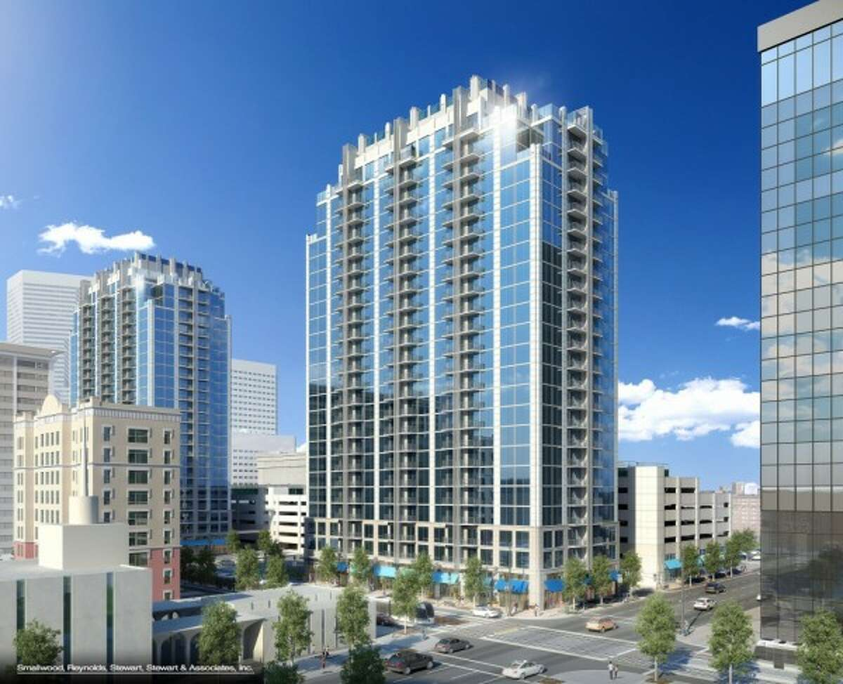 See more of the projects planned for downtown Houston. Skyhouse Main: SkyHouse Main, would be a mirror image of the first, SkyHouse Houston. It is planned for 1625 Main and include 336 units in 24 stories, the same size as SkyHouse Houston, which is just to the north. The new building would include 7,200 square feet of retail space.