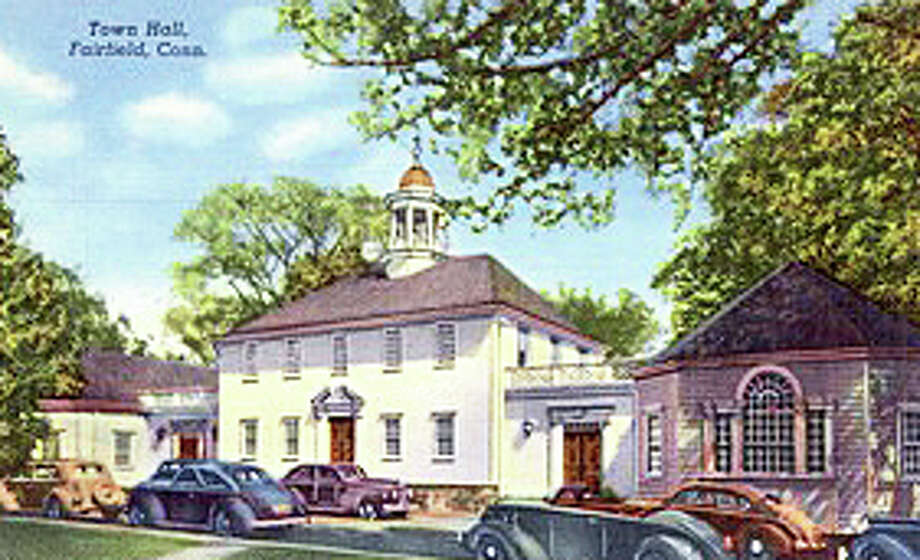 This undated posted card depicts Town Hall in an earlier era. From the collection of the Fairfield Museum and History Center. Photo: Contributed Photo / Fairfield Citizen