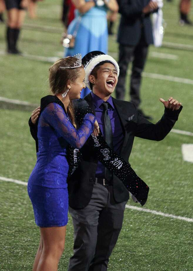 Female-male transgender student Mel Gonzales said he was stunned when his name was called to be Homecoming King for Austin High School in Sugar Land. Fellow student, Mercedes Mackay, was named homecoming queen. Photo: Shaelyn Neal, Shaelyn Neal Photography / Shaelyn Neal Photography