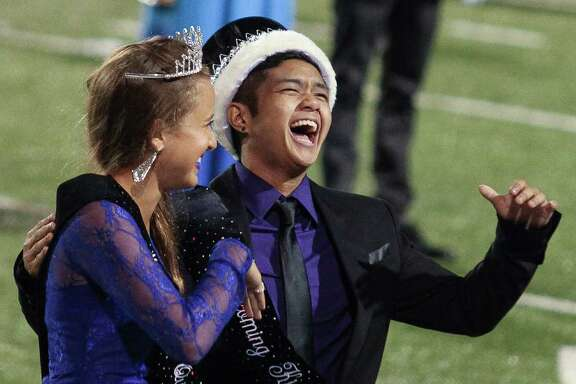 Female-male transgender student Mel Gonzales said he was stunned when his name was called to be Homecoming King for Austin High School in Sugar Land.