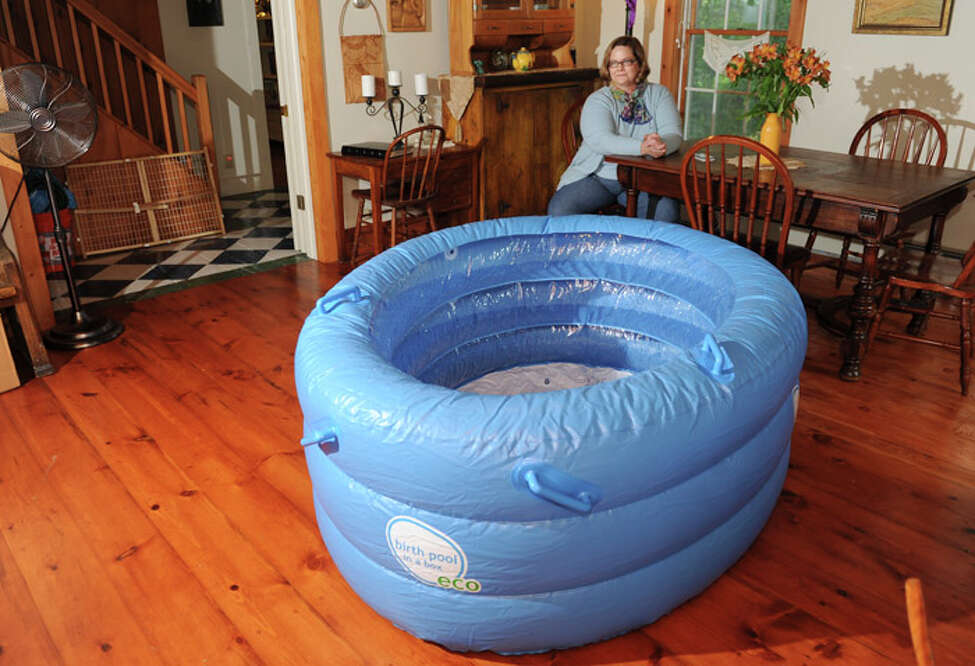 Birthing pools are one way to have a more relaxed birth, proponents say.