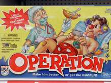 The game Operation is on display at a Toys R Us store on Monday, Sept. 22, 2014, in Colonie, N.Y. It is among the 12 finalists for induction this year into the National Toy Hall of Fame.
