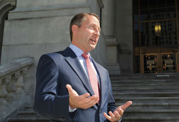 GOP candidate for New York Governor Rob Astorino holds a press conference at the Capitol on Friday Sept. 19, 2014 in Albany, N.Y.  (Michael P. Farrell/Times Union) Photo: Michael P. Farrell, Albany Times Union / 00028706A