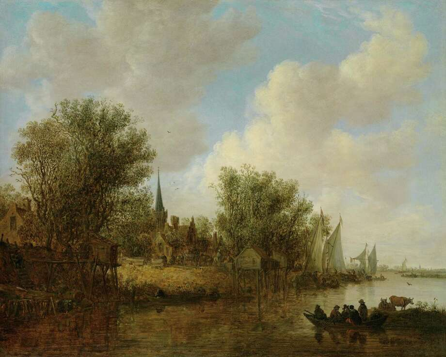 "Jan van Goyen's ""A River Landscape with a Parish Church,"" 1651, is featured in ""Northern Baroque Splendor"" at the Bruce Museum, Greenwich, through April 12, 2015. Photo: Contributed Photo / Connecticut Post Contributed"