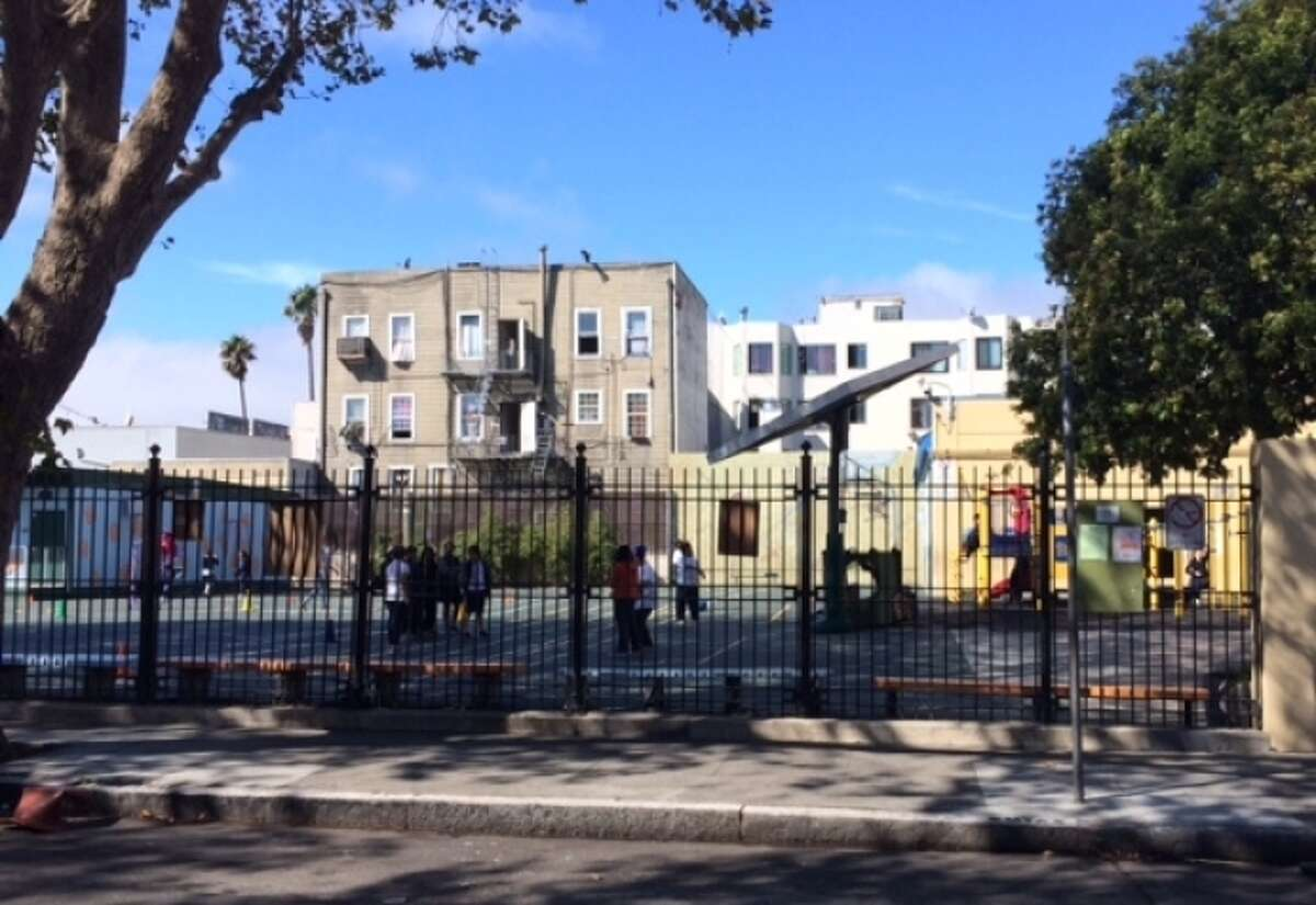 An S.F. developer is proposing to raise the Marshall Elementary School playground 15 feet to keep it out of the shade of a nearby condo project.