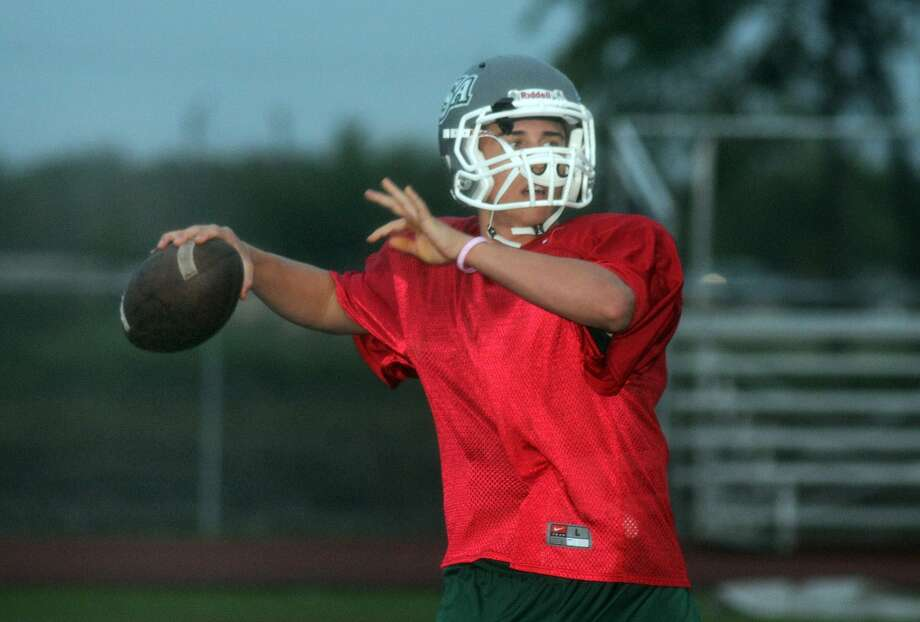 Senior quarterback Trent Franson is a key cog in the offensive attack for Lutheran South Academy. Photo: Jerry Baker, Freelance