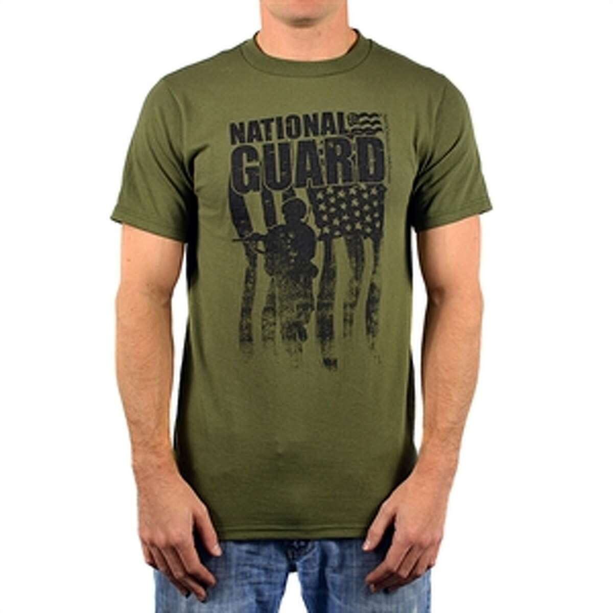 The logo on this National Guard T-shirt was banned from Ravena-Coeymans-Selkirk High School as it does not meet dress code.