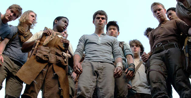 """The Maze Runner"" IMDb: 7.5/10Review by Peter Hartlaub: 'Maze Runner' heads for sci-fi greatness, gets lost3 starsAs far as young-adult-novel dystopian societies go, the boys in ""The Maze Runner"" have it pretty good.