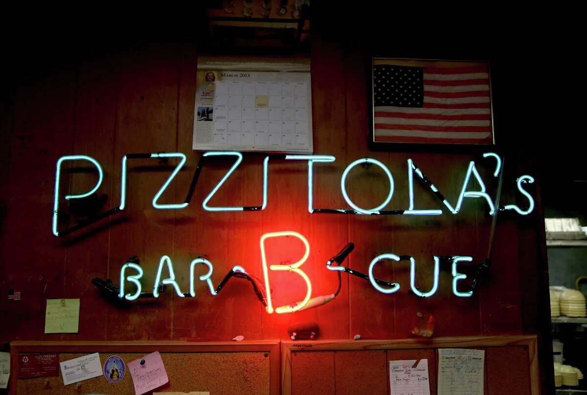 3/11/13: Pizzitola's Bar-B-Cue neon sign The owners and pitmasters of 15 Houston-area barbecue joints will gather at Pizzitola's Bar-B-Cue. This unprecedented meet-and-greet is ahead of the first Houston BBQ Festival, which will be March 24. The restaurants that will be represented include Blake's BBQ, The Brisket House, Brook's Place BBQ, Burns BBQ, CorkScrew BBQ, Fainmous BBQ, Gary Burns Old Fashioned Pit Bar-B-Q, Gatlin's BBQ, Gerardo's, Lenox Bar-B-Que, Pizzitola's Bar-B-Cue, Ray's BBQ Shack, Tin Roof BBQ, Virgie's Bar-B-Que and Killen's BBQ. I'd like to get a group shot (I know it's a big group, but there are some icons of Houston among this group. Some casual shots of the owners/pitmasters talking barbecue. please speak to Andy Olin (ext 7727) about what he might want for cover shot for 29-95