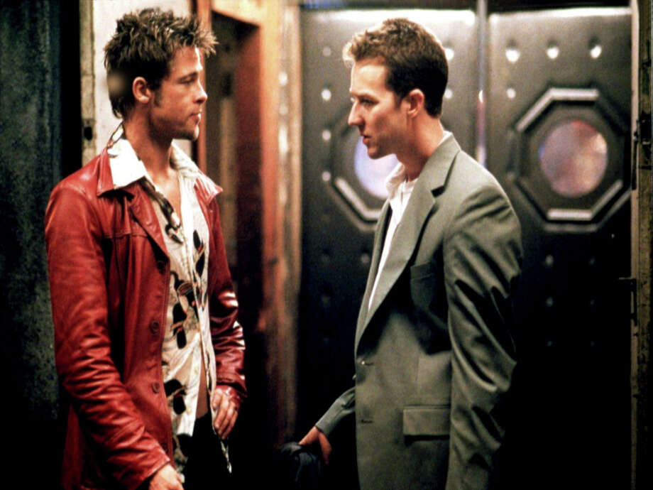 "Brad Pitt, left, and Edward Norton star in ""Fight Club,"" which is part of a David Fincher double feature at Alamo Drafthouse, Vintage Park. / DirectToArchive"
