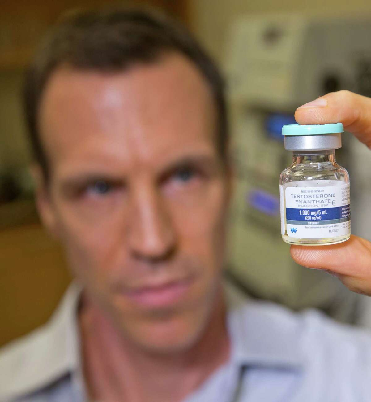 7/15/14: Dr. Jacques Baillargeon, UTMB-Galveston professor, for Health Zone story on study he did that found testestorne, contrary to some prevailing wisdom, does not increase the risk of heart attack. (Photo by Thomas B. Shea for the Houston Chronicle).