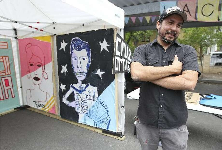 "CRUZ ORTIZWith artwork on Absolut's first Texas-inspired vodka, the artist and master code switcher has had an amazing year. He had a solo show, ""Te Quiero A Lot Mamacitas,"" at the Guadalupe Cultural Arts Center and produced a cool string of one-of-kind letter-pressed political posters, in part, using a press from the now-closed Munguia Printers, in a nice nod to a bit of San Antonio political history. Ortiz also launched Snake Hawk Press, a boutique design firm, and he just started his 16th year of teaching at the International School of the Americas. He always wins points for being inspired by Mexican sign painters, Sunny Ozuna and the Sunliners and the Spurs. But this is hardly his first rodeo. Ortiz enjoyed a residency at ArtPace, has had solo exhibitions and has shown in Los Angeles, Liverpool, the Louvre and in Limerick. ¡Echale! Photo: Express-News File Photo"