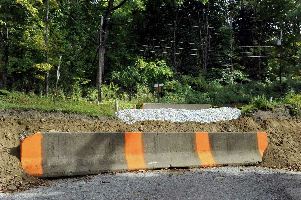 Waller Road in Gaylordsville is closed so the Housatonic Railroad can make repairs to the tracks, Wed., Sept. 24, 2014.