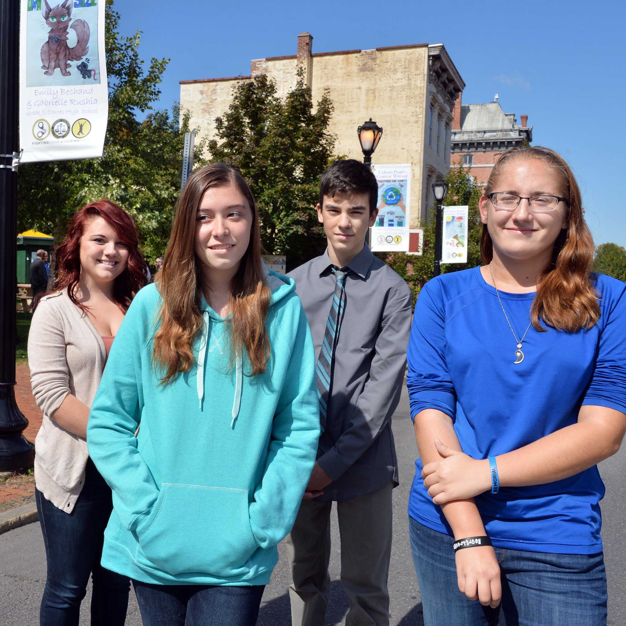Sheridan Schools Closed Thursday As Manhunt For Suspects: Cohoes Students Congratulated For Top Posters