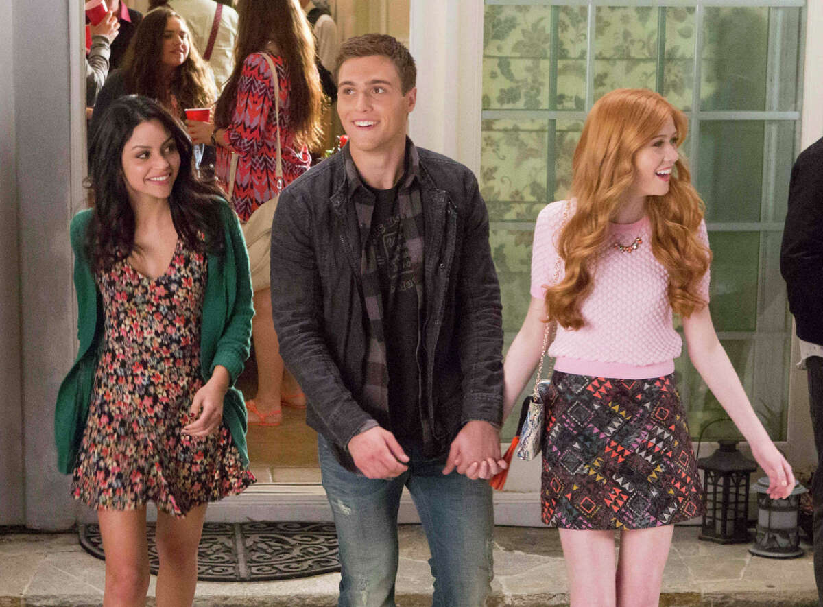 """Cameron Moulene as Will, Bianca Santos as Lucy and Katherine McNamara as Harper in MTV's series """"Happyland."""""""