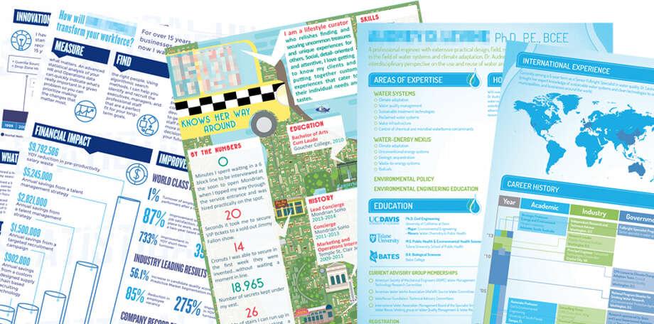 Hagan Blount of haganblount.com has designed infographic resumes fulltime since 2011. Photo: Hagan Blount Designs