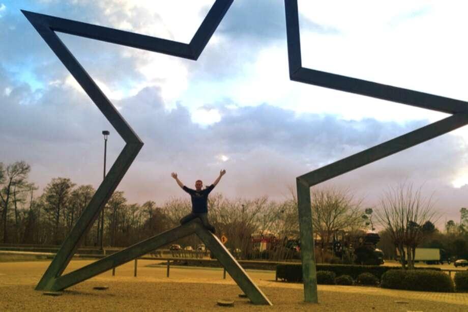 Me, entering Texas.