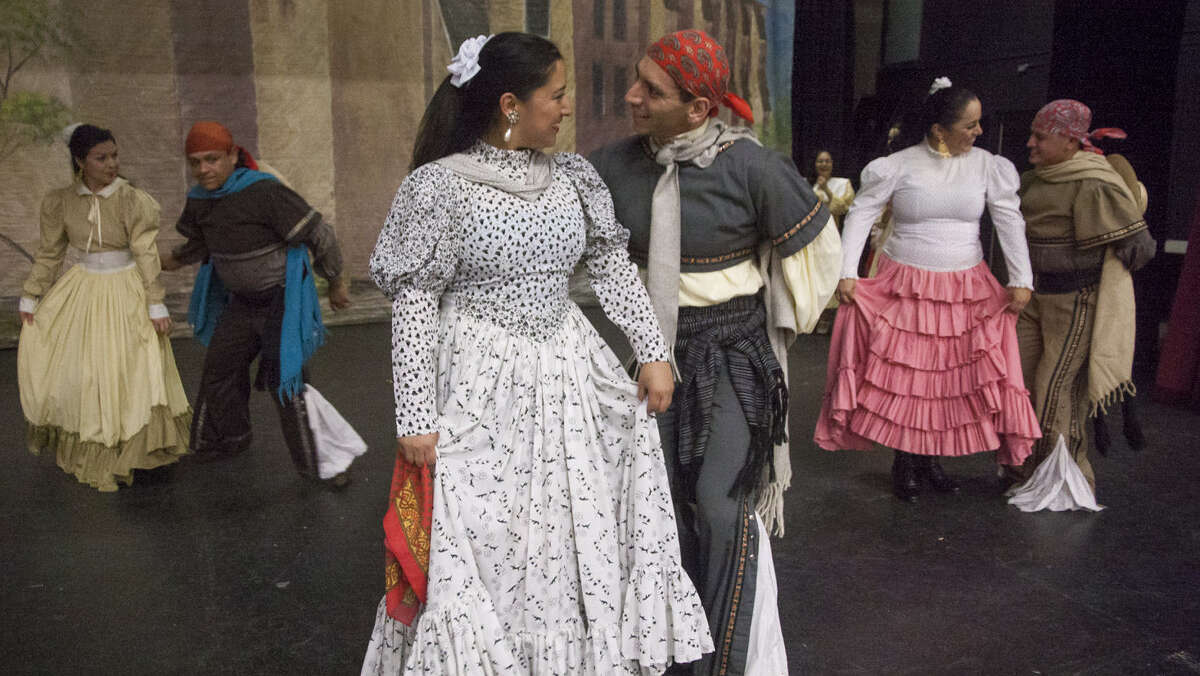 Dancers during a dress rehearsal for