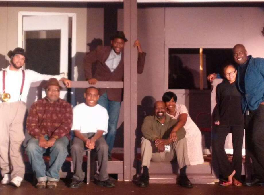 "The cast of ""Fences,"" presented by the Soul Rebel Performance Troupe through Oct. 5 at its new home in Watervliet, pose with the nonprofit's founder and production's director, Jean-Remy Monnay, far right. (Soul Rebel Performance Troupe)"