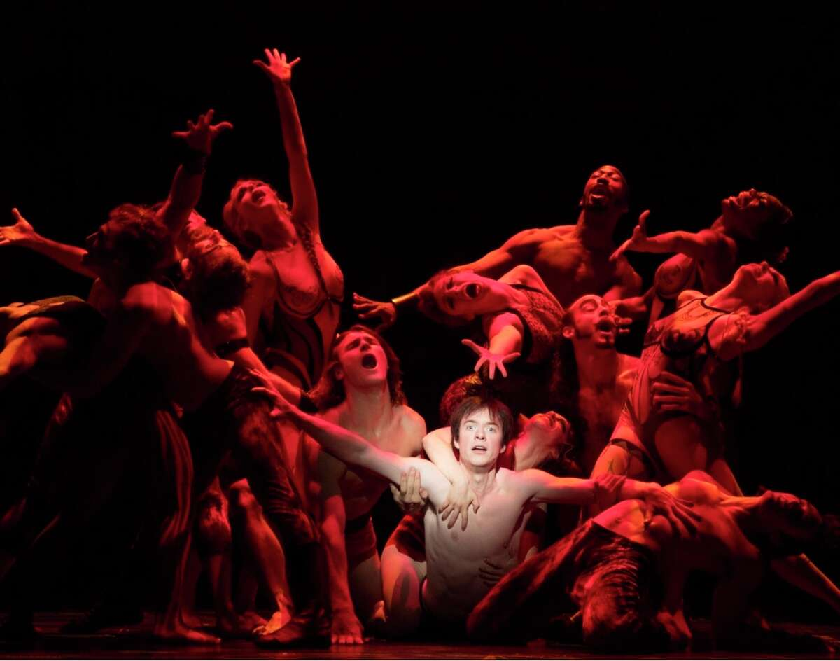"""Matthew James Thomas (center) stars in the title role of """"Pippin,"""" which he originated in the Tony-winning revival."""