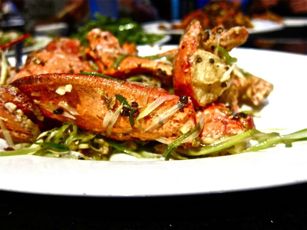 47. Hai Cang Seafood Restaurant Cuisine: Chinese Entree price: $-$$$ Where: 11768 Bellaire Phone: 281-564-4288 Website: haicangrestaurant.net Read Alison Cook's review of Hai Cang Seafood Restaurant Pictured above: Live lobster with beer and black pepper
