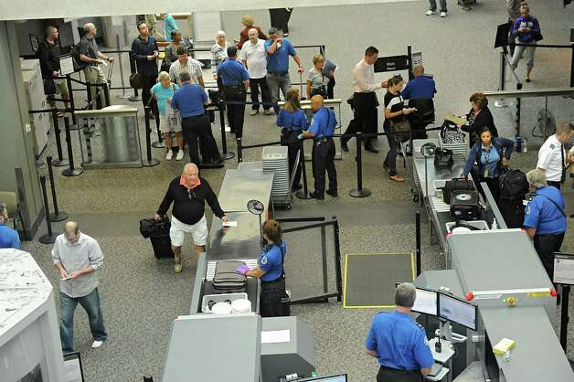 Security check point area to get to their gates at the Albany International Airport on Wednesday, Sept. 24, 2014 in Colonie, N.Y. (Lori Van Buren / Times Union) Photo: Lori Van Buren / 10028742A