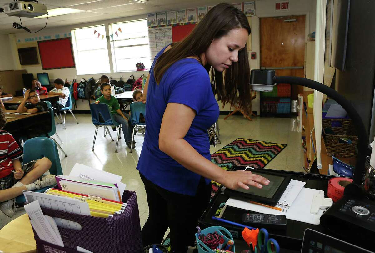 In Stephanie Waterhouse's class at Windcrest Elementary, students said they use e-textbooks because of the interactivity.