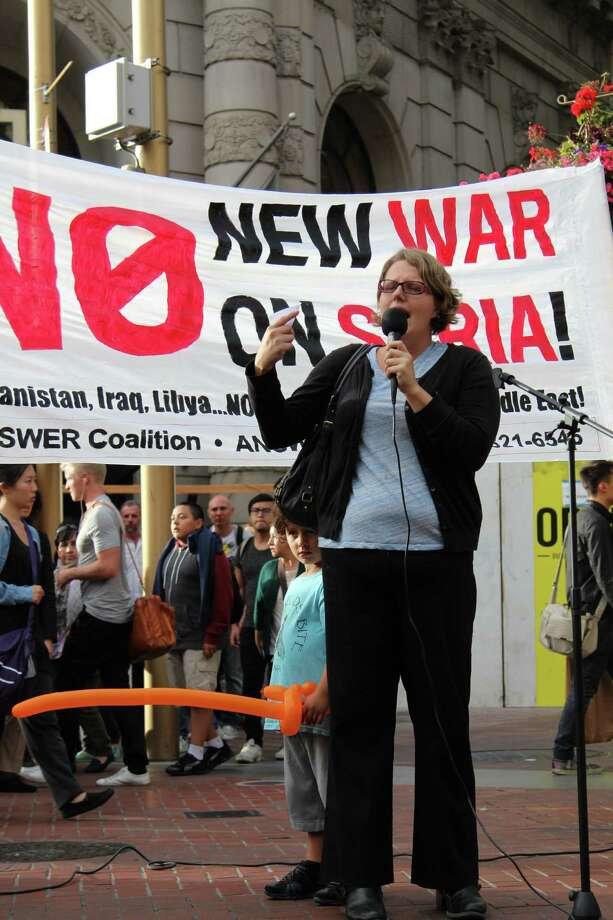 Anti-war protesters take to S.F. streets to condemn U.S. bombing