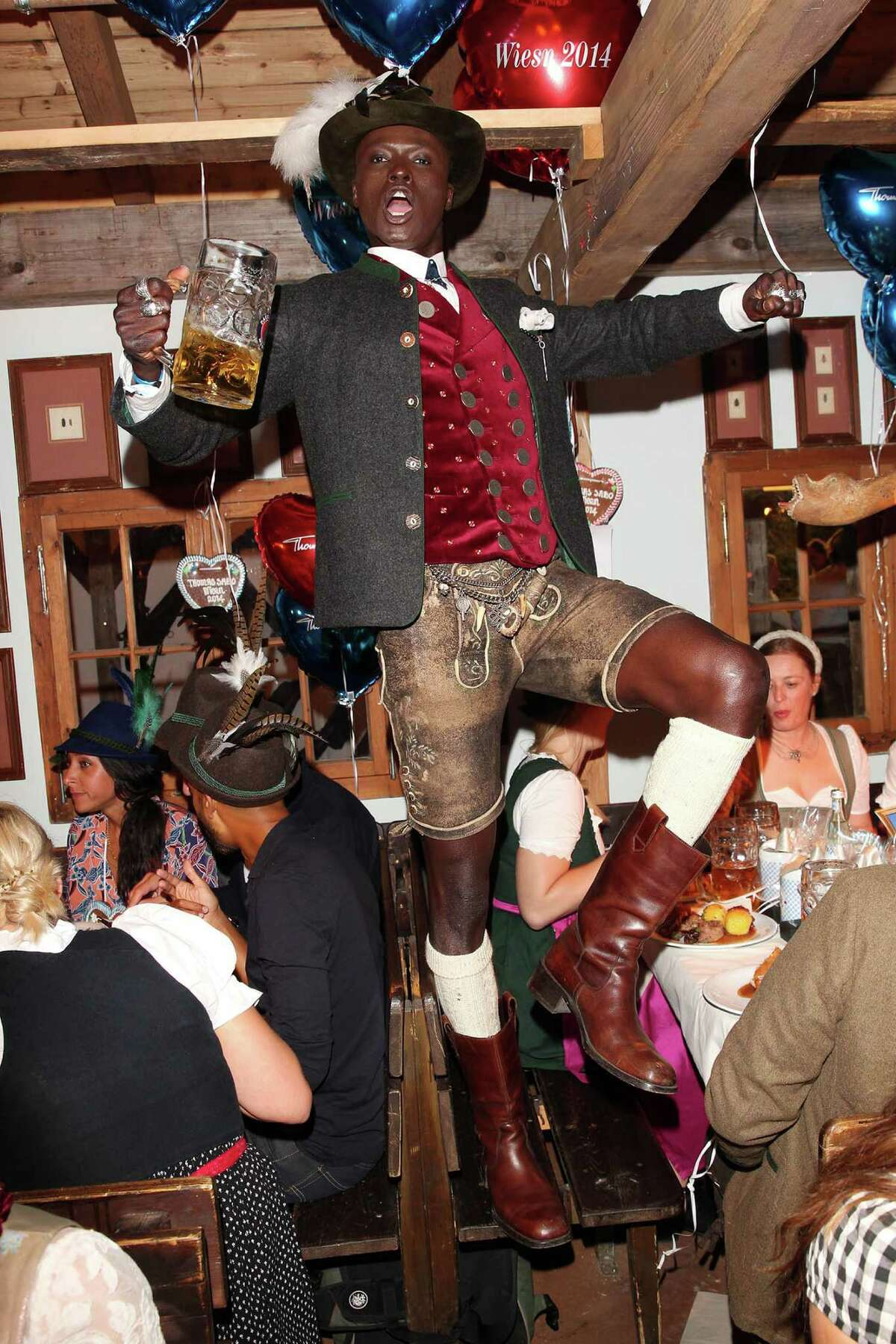 Papis Loveday attends the Thomas Sabo Wiesn during Oktoberfest at Theresienwiese on September 23, 2014 in Munich, Germany.