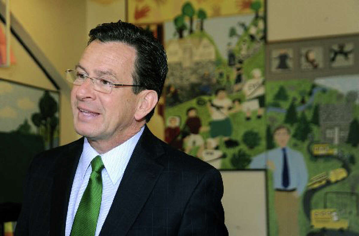 Gov. Dan Malloy on a visit to Eagle Hill School in Greenwich March 29, 2011. The governor was invited to speak to students about his struggles in school.