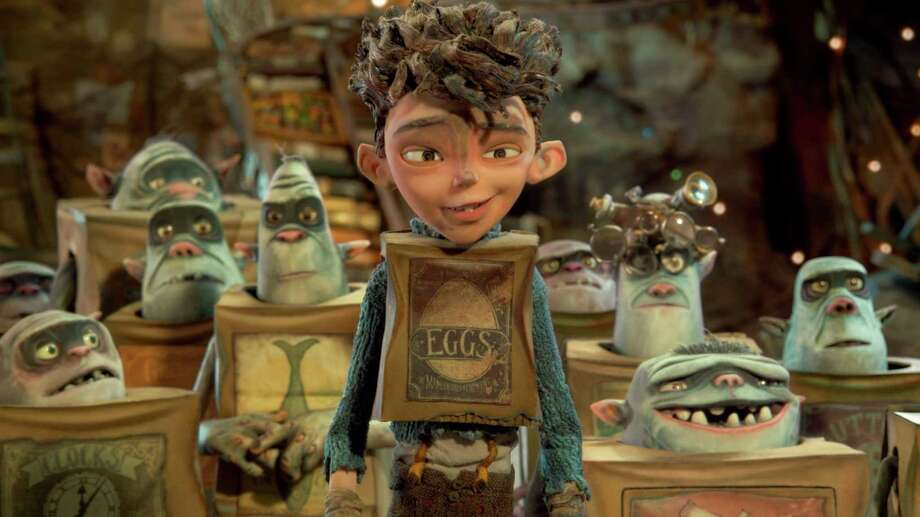 "Eggs, voiced by Isaac Hempstead Wright, is surrounded by his boxtroll friends in ""Boxtrolls."" Photo: Handout, HO / MCT"