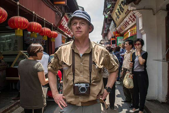 """Simon Pegg plays a disillusioned psychiatrist who goes on a global quest to find inner happiness in """"Hector and the Search for Happiness."""""""