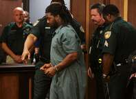 Jesse Leroy Matthew Jr. appears in a Galveston County courtroom on Friday, Sept. 25, 2014. He was arrested Wednesday and is charged in the disappearance of 18-year-old University of Virginia student Hannah Elizabeth Graham.