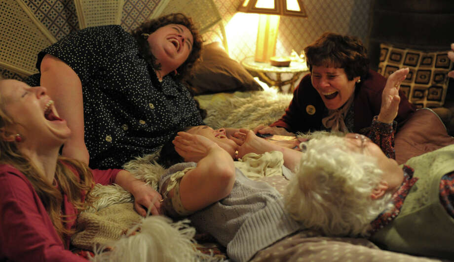 "Nia Gwynne (left), Jessica Gunning, Liz White, Menna Trussler and Imelda Staunton (top right) appear in ""Pride."" Photo: Nicola Dove / Nicola Dove / ONLINE_CHECK"