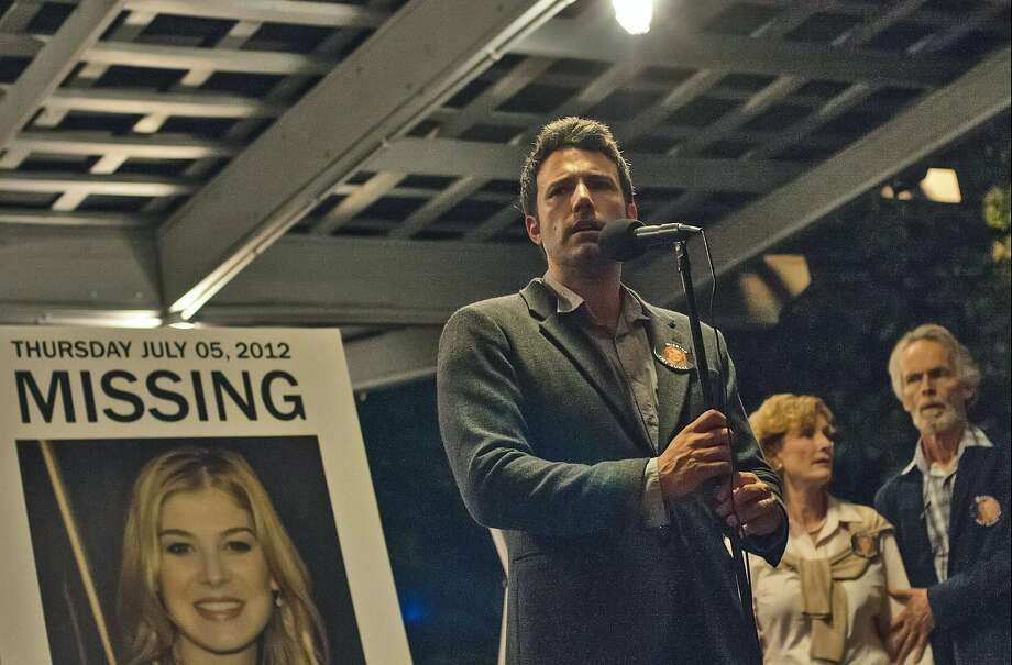 "This image released by 20th Century Fox shows Ben Affleck in a scene from ""Gone Girl."" The film will make its world premiere as the opening night film at the 52nd New York Film Festival on September 26. The 20th Century Fox thriller, which stars Ben Affleck and Rosamund Pike, will premiere in theaters shortly after on October 3. (AP Photo/20th Century Fox, Merrick Morton) Photo: Merrick Morton, Associated Press"