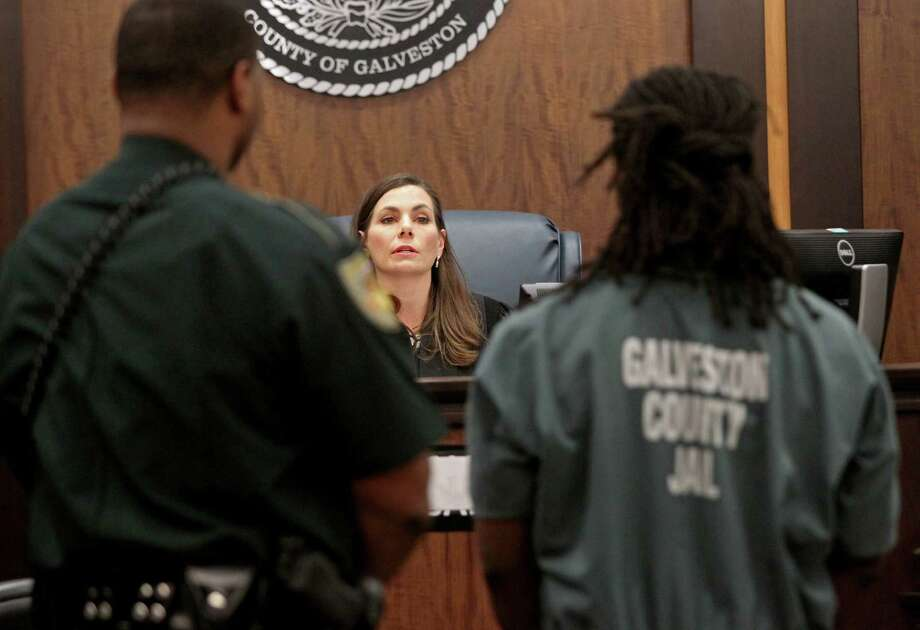 Galveston County district court judge Michelle Slaughter received jury summons to her own court. Photo: Gary Coronado, Houston Chronicle / © 2014 Houston Chronicle