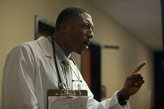 Rapper Lecrae Moore portrays Dr. Malmquist in  By Saving Grace    the movie-within-the-movie  Believe Me.