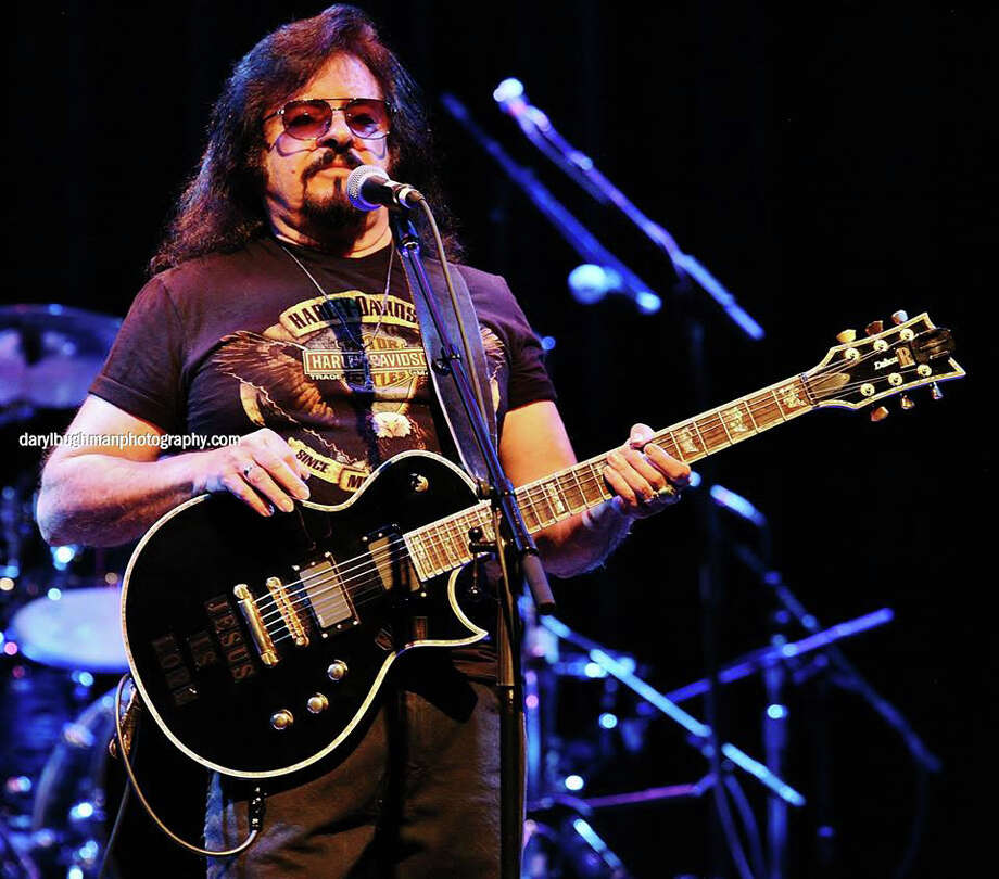 """Artists such as Vince Martell, lead guitarist of Vanilla Fudge, reflect on rock íní rollís unique position as a force for social change in ìRockiní the Wall.î Martell, just back from Vanilla Fudgeís worldwide tour, will be at The Palace Danbury on Thursday, Oct. 2, for the film's screening. He will also perform an acoustic set of '60s music with recording artist Peg Pearl. Guitar Magazine ranked Martellís guitar work in his band's version of """"You Keep Me Hangin' On"""" as the No. 4 heaviest guitar riff of all time, in classic rock. Photo: Daryl Bughman/Contributed Photo, Contributed Photo / The News-Times Contributed"""