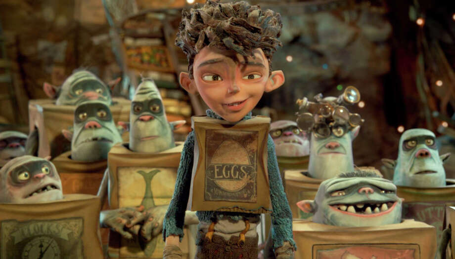 """Eggs (Isaac Hempstead Wright), a human boy brought up by boxtrolls, tries to help save them from the chief exterminator's plan in Laika's novel-inspired """"The Boxtrolls."""" Photo: LAIKA, HONS / Associated Press / Focus Features"""