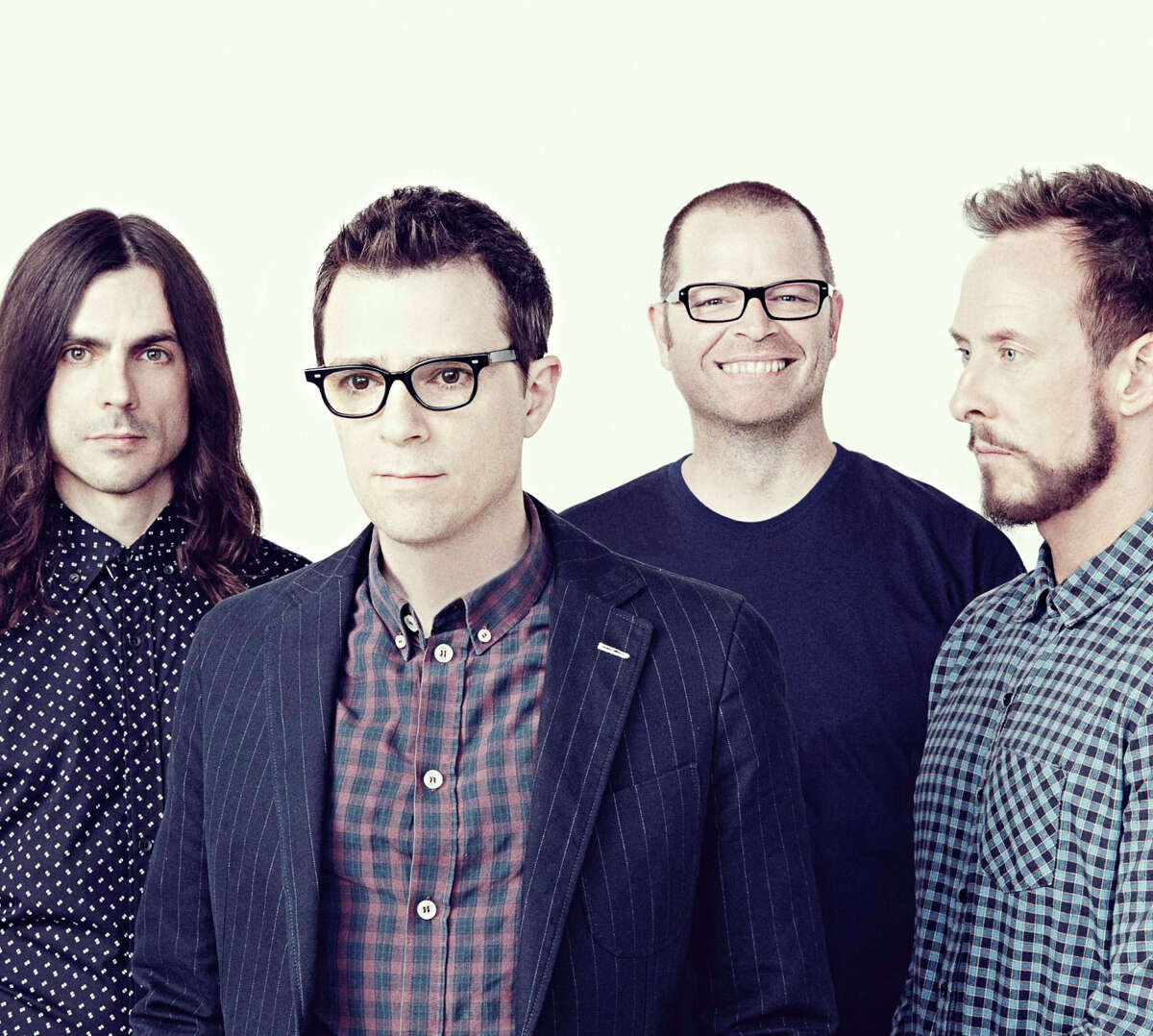 Guitarist Brian Bell (left), Rivers Cuomo, drummer Patrick Wilson and bassist Scott Shriner.