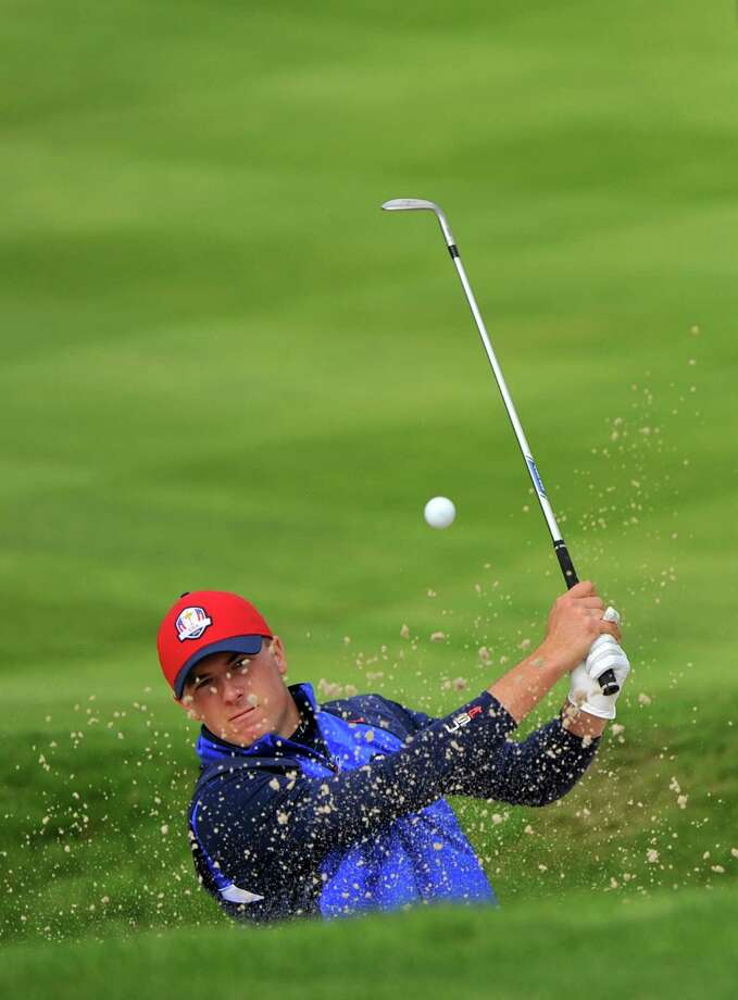 Jordan Spieth is one of three U.S. rookies who will undergo a baptism by fire when they compete in today's opening session of fourballs as the Ryder Cup gets cranked up. Photo: GLYN KIRK, Stringer / GLYN KIRK