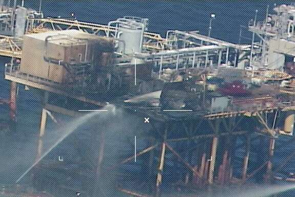 The CEO and several executives who ran Black Elk Energy at the time of a fatal 2012 fireon its West Delta 32 platform in the Gulf of Mexico  have formed a new company to develop onshore projects. (U.S. Coast Guard photo)