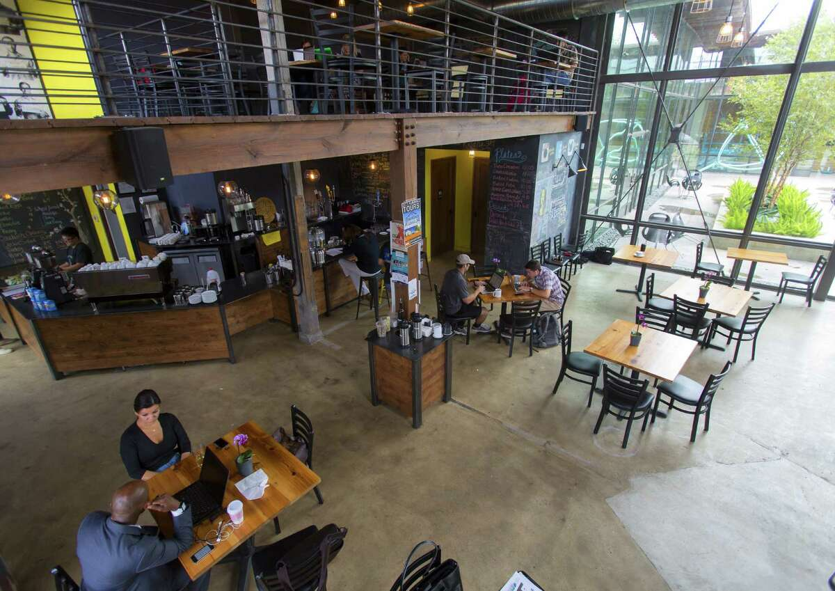 3. Rosella, now more than just coffee, is a great spot to get perfect Cuvee coffee in the morning, stick around for a lunch meeting (there's free wifi), and then get a glass of wine or pint of craft beer before you head home for the night.