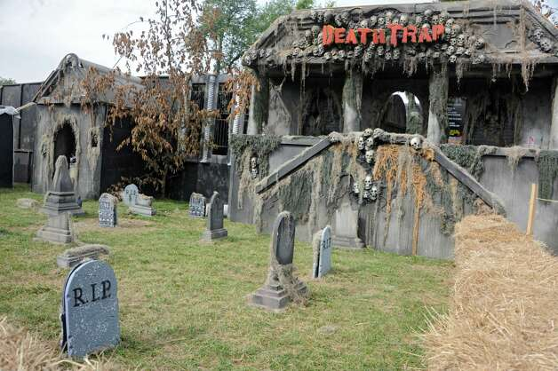 Haunted houses for the Halloween season are seen at Capital Combat Zone and The Field of Horrors on Thursday, Sept. 25, 2014 in Brunswick, N.Y. (Lori Van Buren / Times Union) Photo: Lori Van Buren / 00028765A