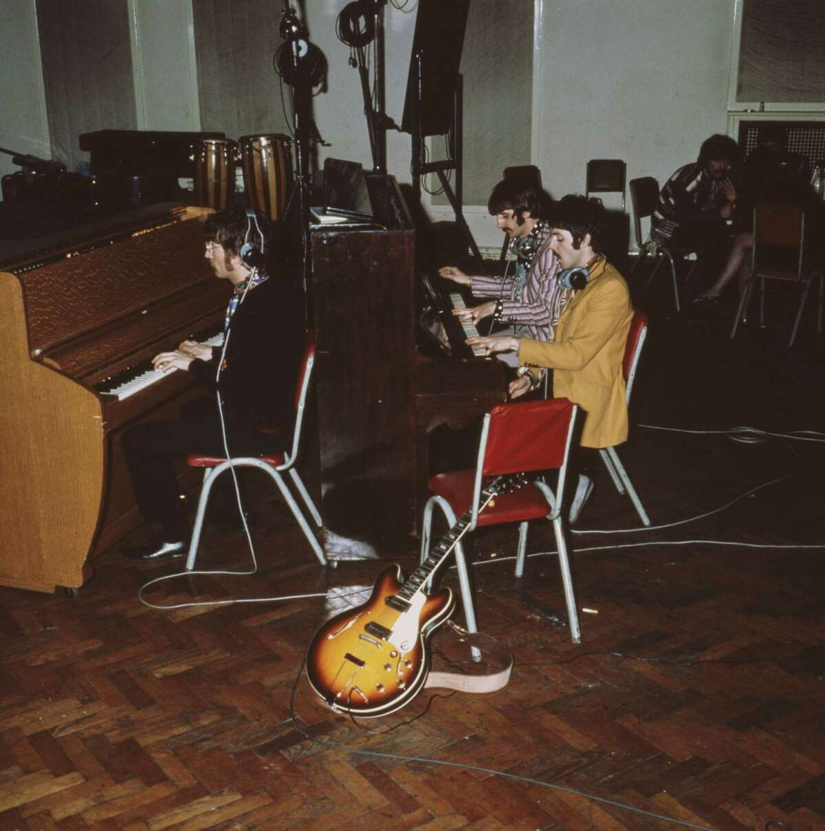 McCartney's decision to add a harmonium (pump organ) which is more prominent during Lennon's famous