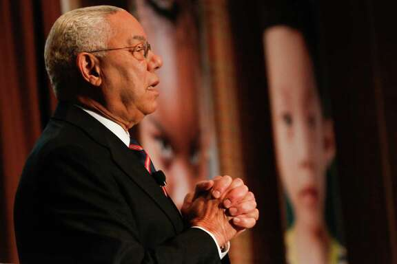 Ret. General Colin Powell speaks at the Early Matters conference at Rice University