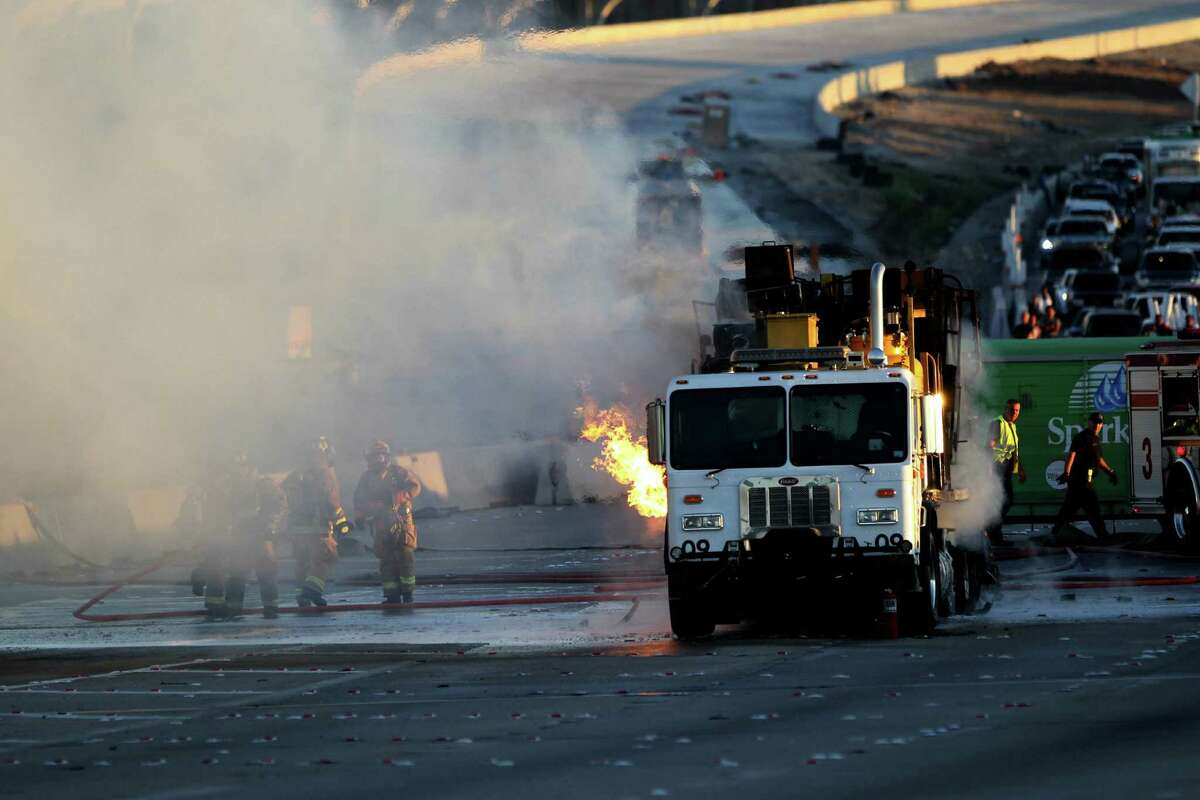 The incident occurred about 6:50 a.m. on the southbound West Loop near Old Katy Road, according to Houston TranStar. No injuries were reported.