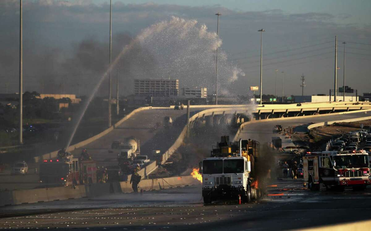 Sept. 26, West Loop at Old Katy Road: The Houston Fire Department responded to a paint truck that caught fire snarling rush-hour traffic on the 610 West Loop Sept. 26.
