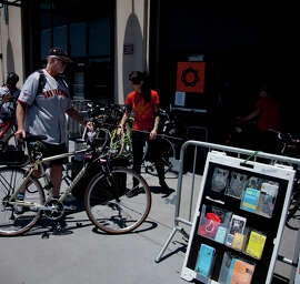 Valet bicycle parking is just one benefit of cycling to the many events around San Francisco in October, such as the Castro Street Fair, Yerba Buena Night and the ACT Bike to Theater Night.