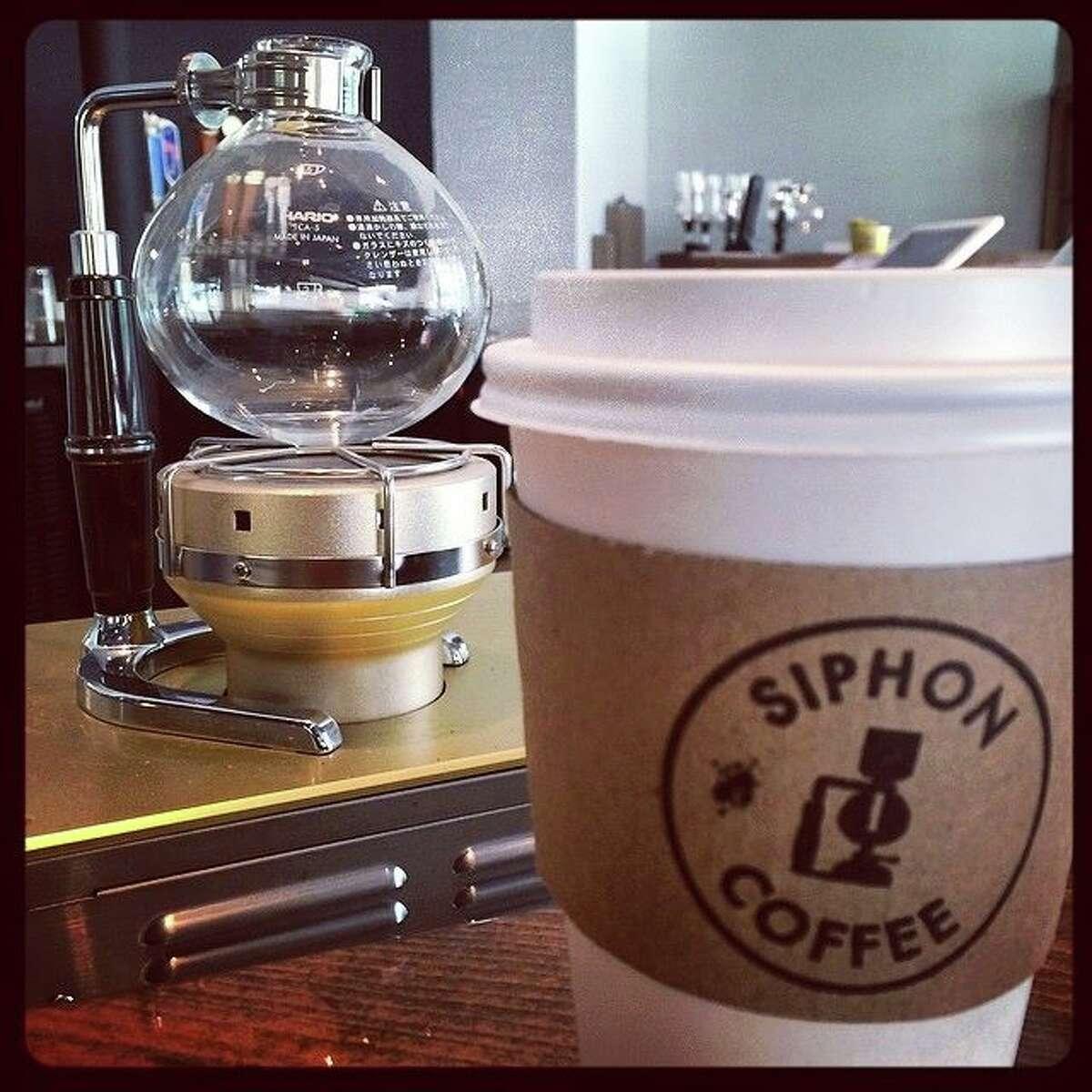 Siphon Coffee Address: 701 W Alabama Phone: (281) 974-4426 Hours:7 a.m.-10 p.m. Website: facebook.com/siphoncoffeehouston